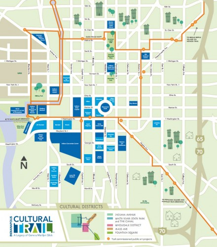 Cultural Trail Map (image credit: Indianapolis Cultural Trail)