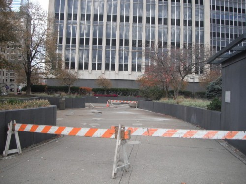 Despite some occasional improvements, most visitors would agree that this plaza shows signs of deferred maintenance, and it is rarely used for anything.