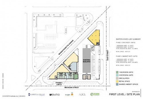 Barton Tower Expansion Site Plan (image credit: Ratio Architects)