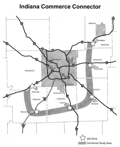 Indiana Commerce Connector (image credit: INDOT report)