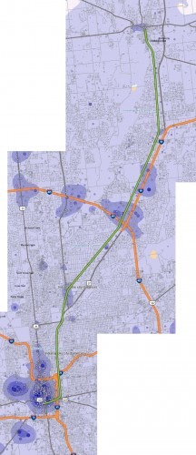 Green Line Route vs Job Locations