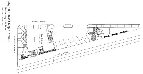 1002 Broad Ripple Ave Site Plan