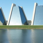 The Pyramid Buildings on Indy's Northwest Side (image:  Graeme Sharpe)