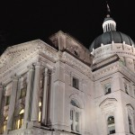 Indiana State Capitol at Night (image:  Curt Ailes)