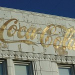 Metallic Script Lettering on Historic Coca-Cola Bottling Plant (image:  Graeme Sharpe)