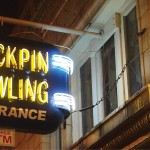 Duckpin Bowling signage in Fountain Square (image:  Graeme Sharpe)