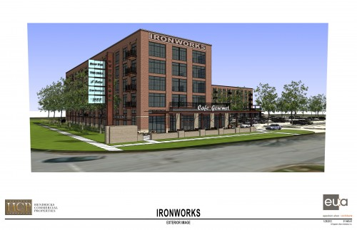 Ironworks Entrance (rendering)