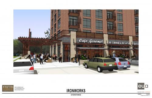 Ironworks Outdoor Seating (rendering)