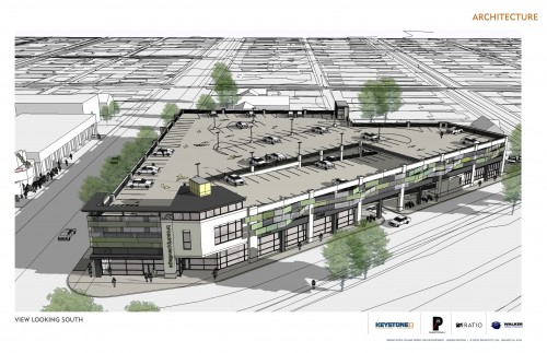 Broad Ripple Mixed Use Garage (Rendering)