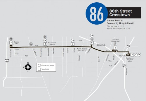 IndyGo 86 Map