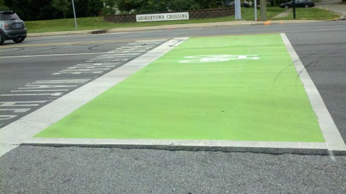 71st Street Bike Box - Now Painted (image credit: Indy DPW)