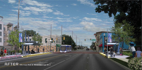 Blue Line rendering in Irvington