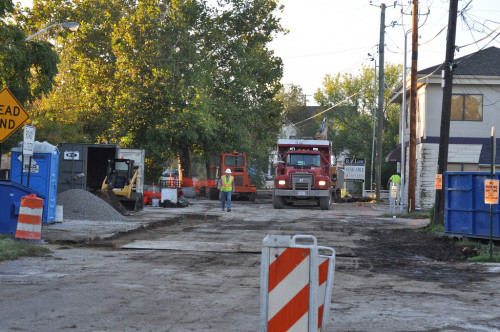 Cornell Ave Construction (image credit: Curt Ailes)
