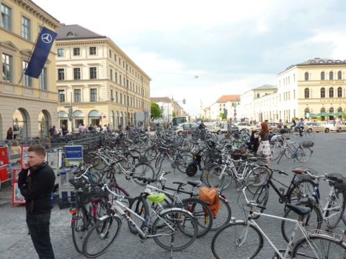 Munich reminds us that multi-modal commuters need a place to store bikes, or people will make their own
