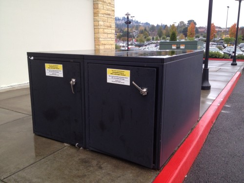 Portland's bike lockers remind us that some bicyclists demand higher levels of protection (image credit: H. Simmons)