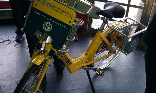 The Pacers Bikeshare Bicycle.