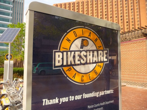 Indianapolis' bike share scheme offers a different perspective of the city. Photo Credit: Matthew Moggridge