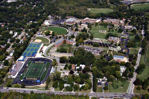 Aerial view of Marian University from Google images