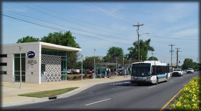 Rosa Parks Place Community Transit Center Photo credit: http://charmeck.org/city/charlotte/cats/Bus/Pages/transitcenters.aspx