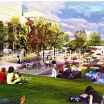 5. Indianapolis CCB Plaza_THE CCB DECK_GraphicMaterial_Rendering 01_Summer Day Lawn