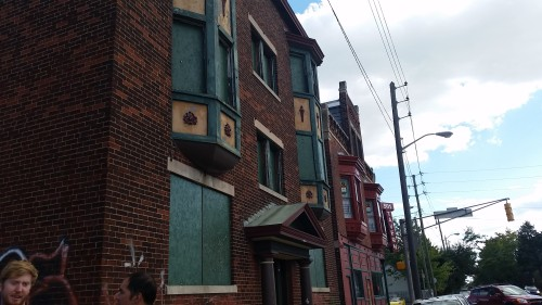 Historic Apartment building on College Ave, which will hopefully soon see renovation