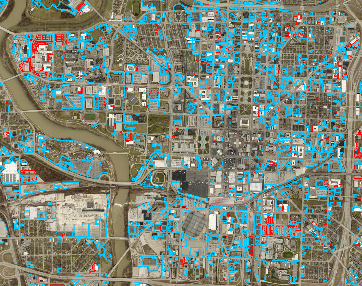 Downtown Indianapolis Parking Lot Comparison: 2011 to 2018 | Urban on