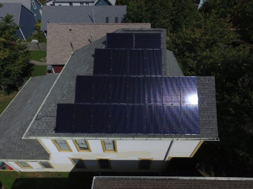 picture of solar panels on roof