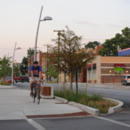 Cycling on sidewalks in Indy