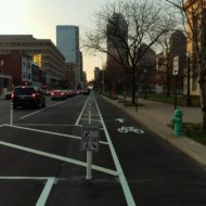 Penn Street's Protected Bike Lane