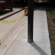 DPW still building sidewalks with poles in them