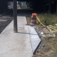 "Shelby Street sidewalk ""fix"""